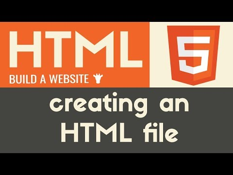 Creating An HTML  File | HTML | Tutorial 3