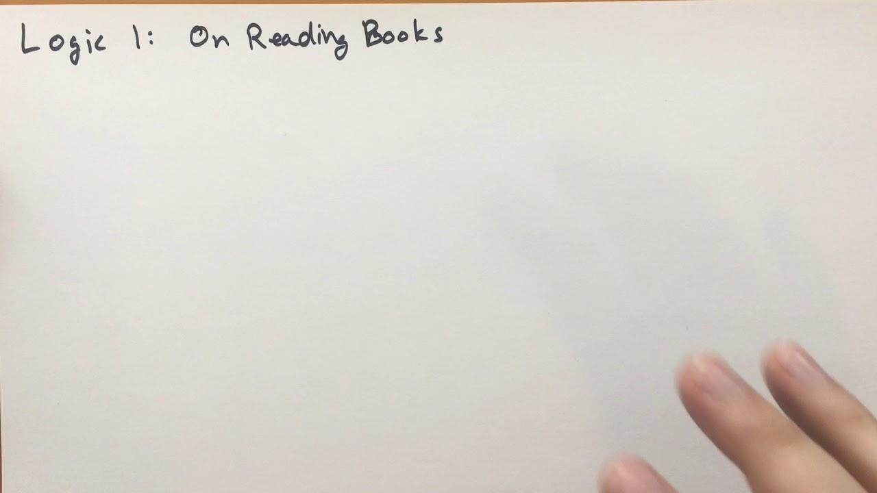Logic 1 On reading books (Basic Mathematics)