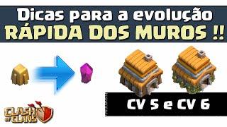 Dicas para a Evolução dos Muros - CV 5 e CV 6 - Clash of Clans