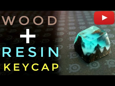 Wood Resin Keycap (Handmade) | Cherry MX Snow Mountain