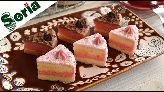 Petit Two color cake【100均 ミックス粉】簡単★プチ2色ケーキ【作り方】