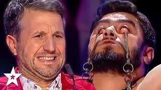 Judges Can&#39t Watch DANGEROUS Audition on Romania&#39s Got Talent! Got Talent Global