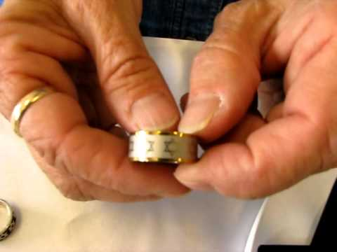 Jewish Rings - Shema Israel, Spinner Ring, Star Of David Rings