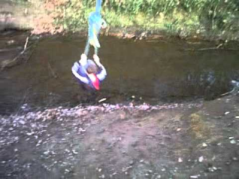 funny kids head dunked in river - brandon adams