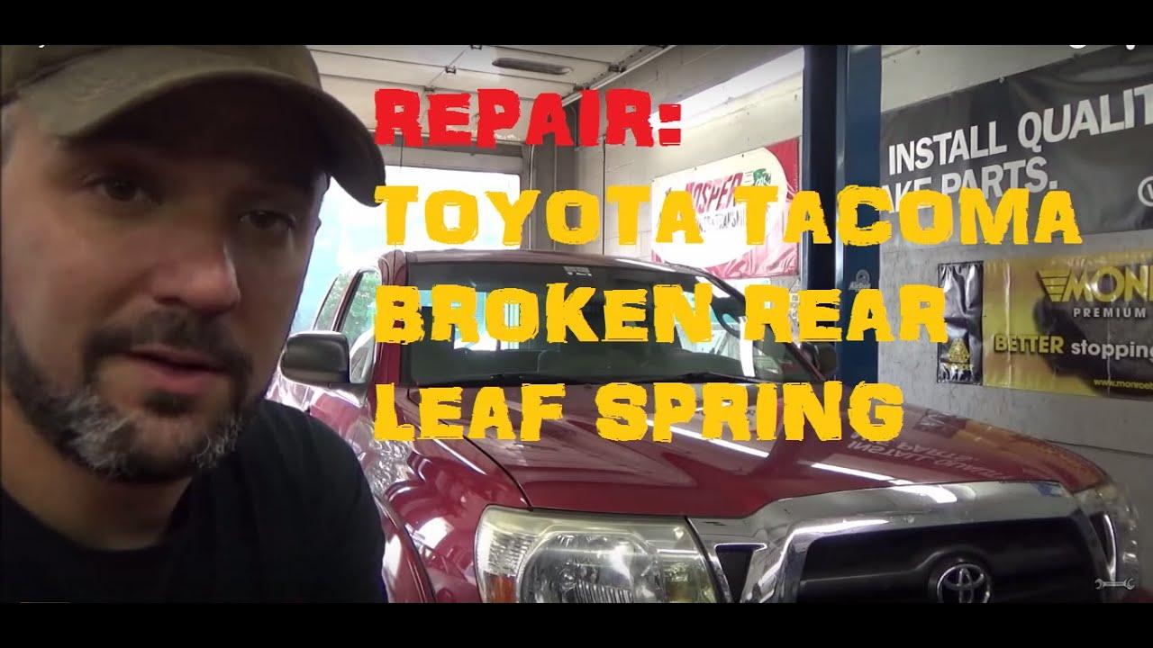 replace broken rear leaf spring toyota tacoma youtube. Black Bedroom Furniture Sets. Home Design Ideas
