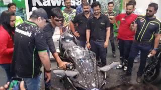 Launch of Kawasaki Ninja H2 Carbon in Ahmedabad