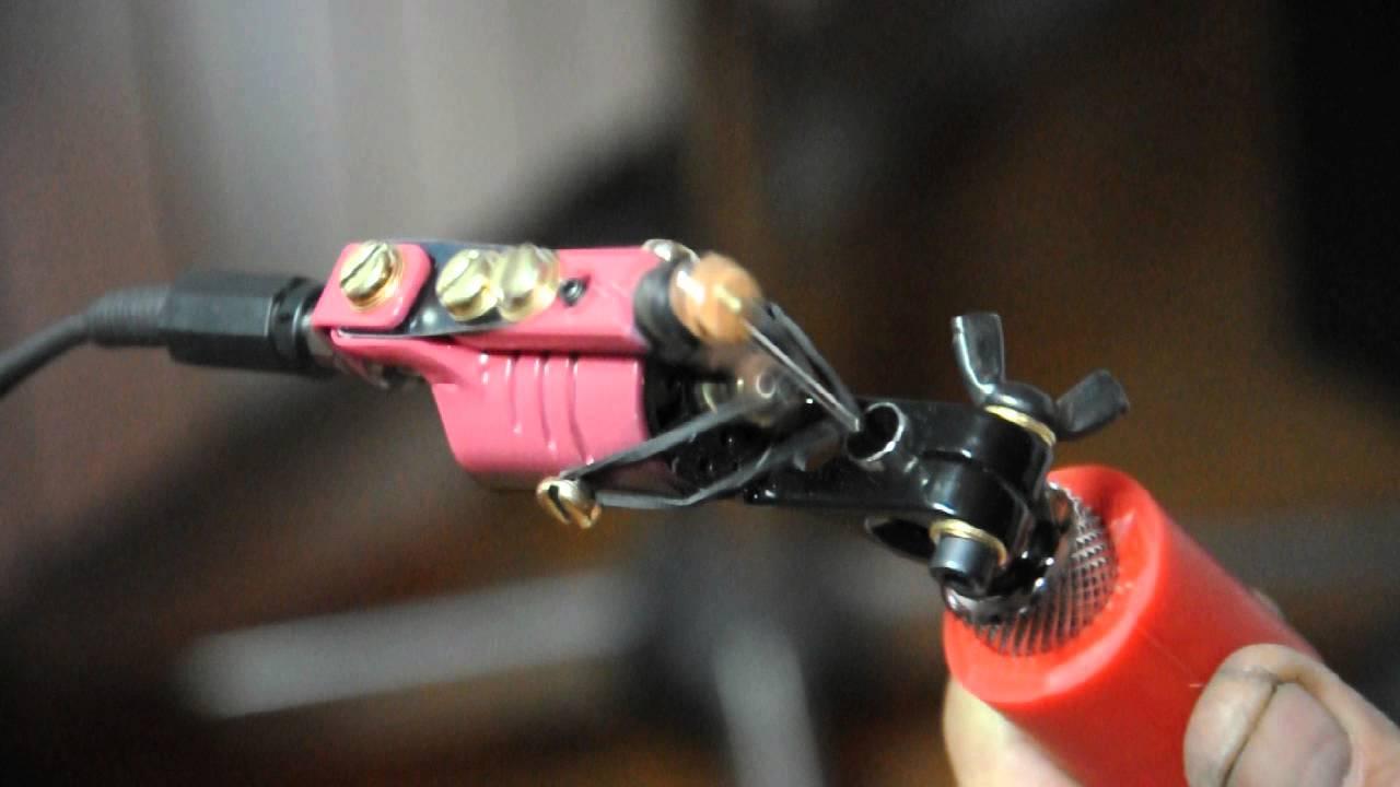 Nicks rotary handmade tattoo machine youtube for How to make a home made tattoo machine