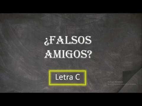 Download Gramática: Falsos amigos entre portugués y español (Letra C)
