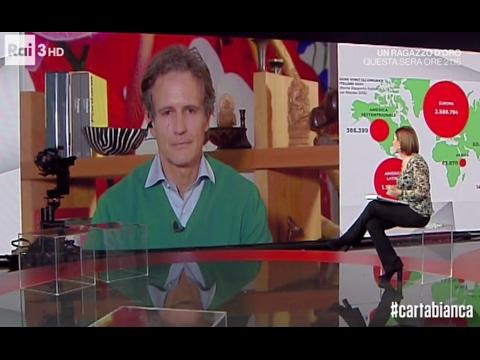 Alessandro Benetton - Economia e cervelli in fuga, #cartabianca del 3 febbraio 2017