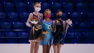Церемония награждения Девушки Гран при по фигурному катанию среди юниоров 2021 22