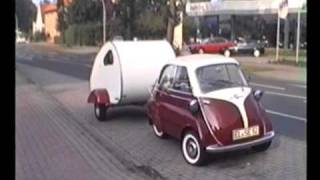 RR & caravan meets BMW bubble car & caravan at Lingen Sep 1995.wmv