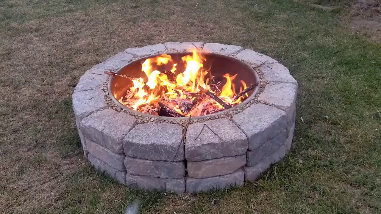 How to Build an Easy Backyard Fire Pit - YouTube