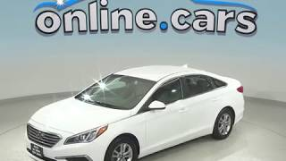 G99039NC Used 2017 Hyundai Sonata Base FWD 4D Sedan White Test Drive, Review, For Sale