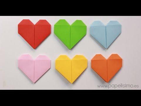 Cómo hacer un corazón de papel (Tarjeta de San Valentín Origami ...