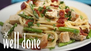 How to Make Chicken Carbonara | Recipe | Well Done