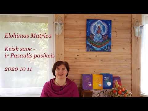 2020 10 11 Elohimas Matrica: KEISK SAVE - IR PASAULIS PASIKEIS.