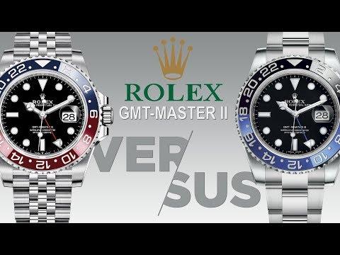 Rolex GMT Master II Pepsi Vs. Batman