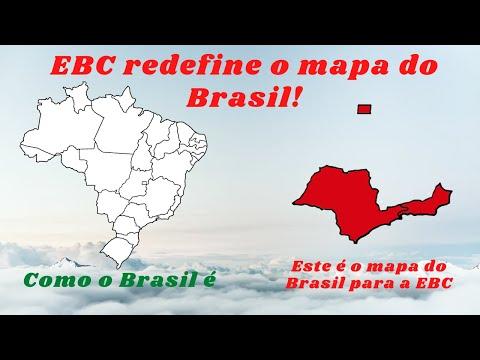 Assustador: Na cara dura, EBC cria um novo mapa do Brasil