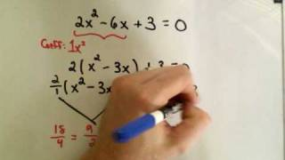 Completing the Square Example 2 Solve Quad. Equations thumbnail