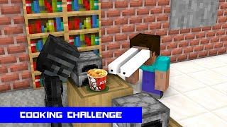 Monster School  Cooking Challenge - Minecraft Animation