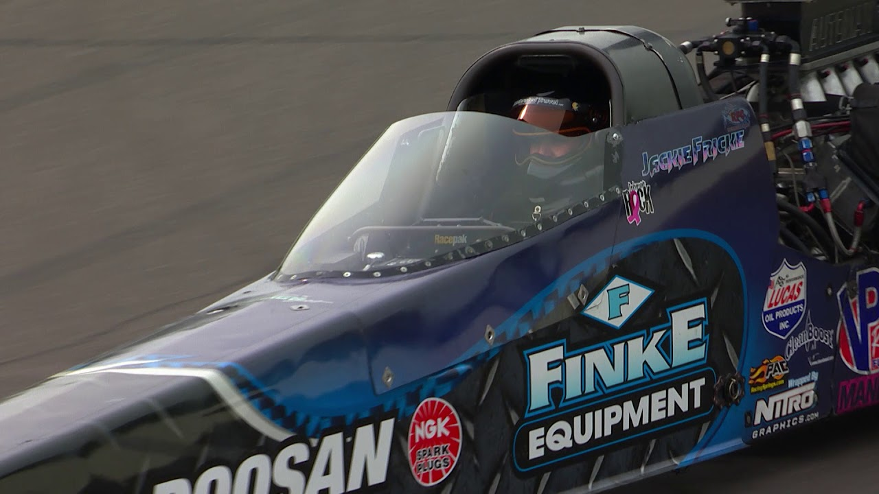 2018 Lucas Oil Nationals Top Alcohol Dragster winner Jackie Fricke