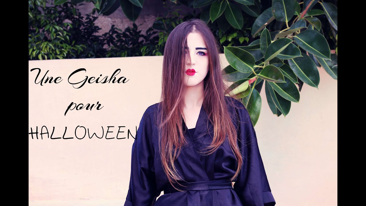 Tuto Maquillage 5 Une Geisha Pour Halloween Artistic Makeup
