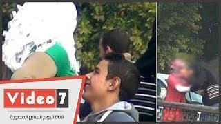 بالفيديو.. تحرش وشروع فى اغتصاب بين مراهقين وفتيات على الكورنيش