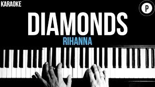 Rihanna - Diamonds Karaoke SLOWER Acoustic Piano Instrumental Cover Lyrics