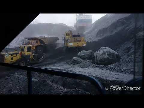 Работа в мороз,добыча угля.