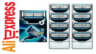 GILLETTE Mach 3 лезвия для бритья Посылка из Китая Алиэкспресс Aliexpress