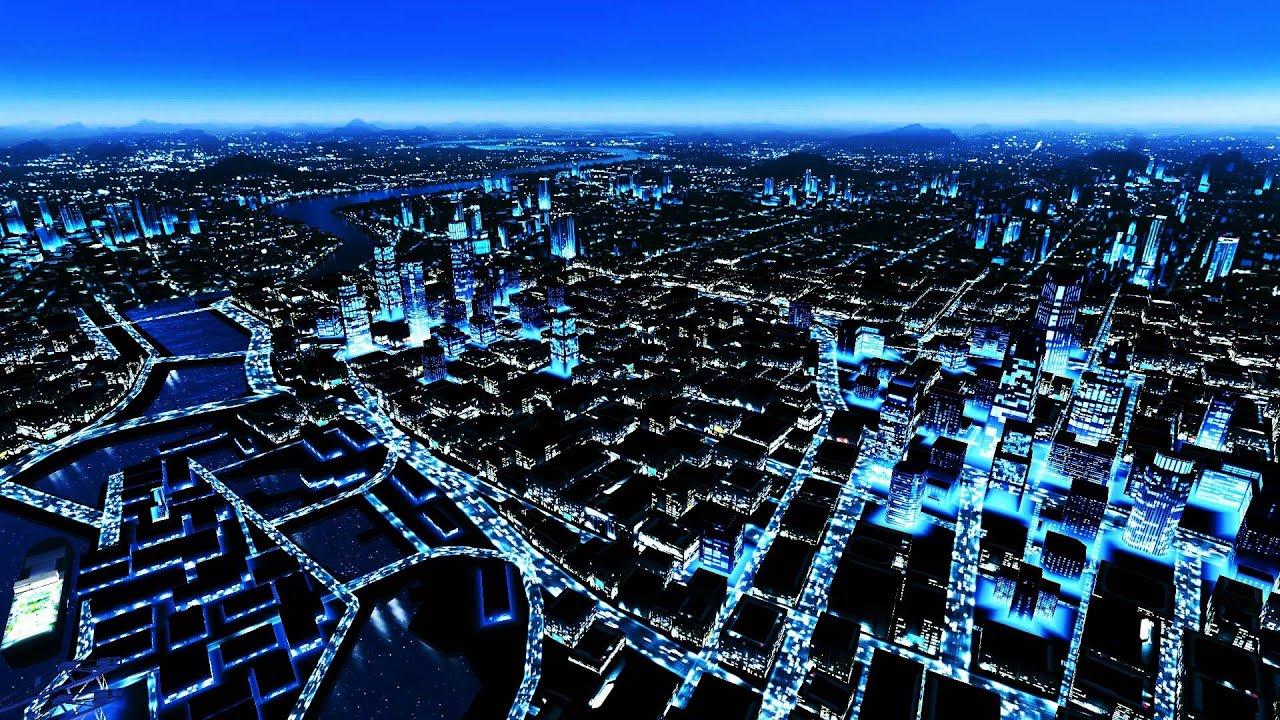 Mirrors Edge - DreamScene [Live Wallpaper] - Night Skyline (1080p) - YouTube