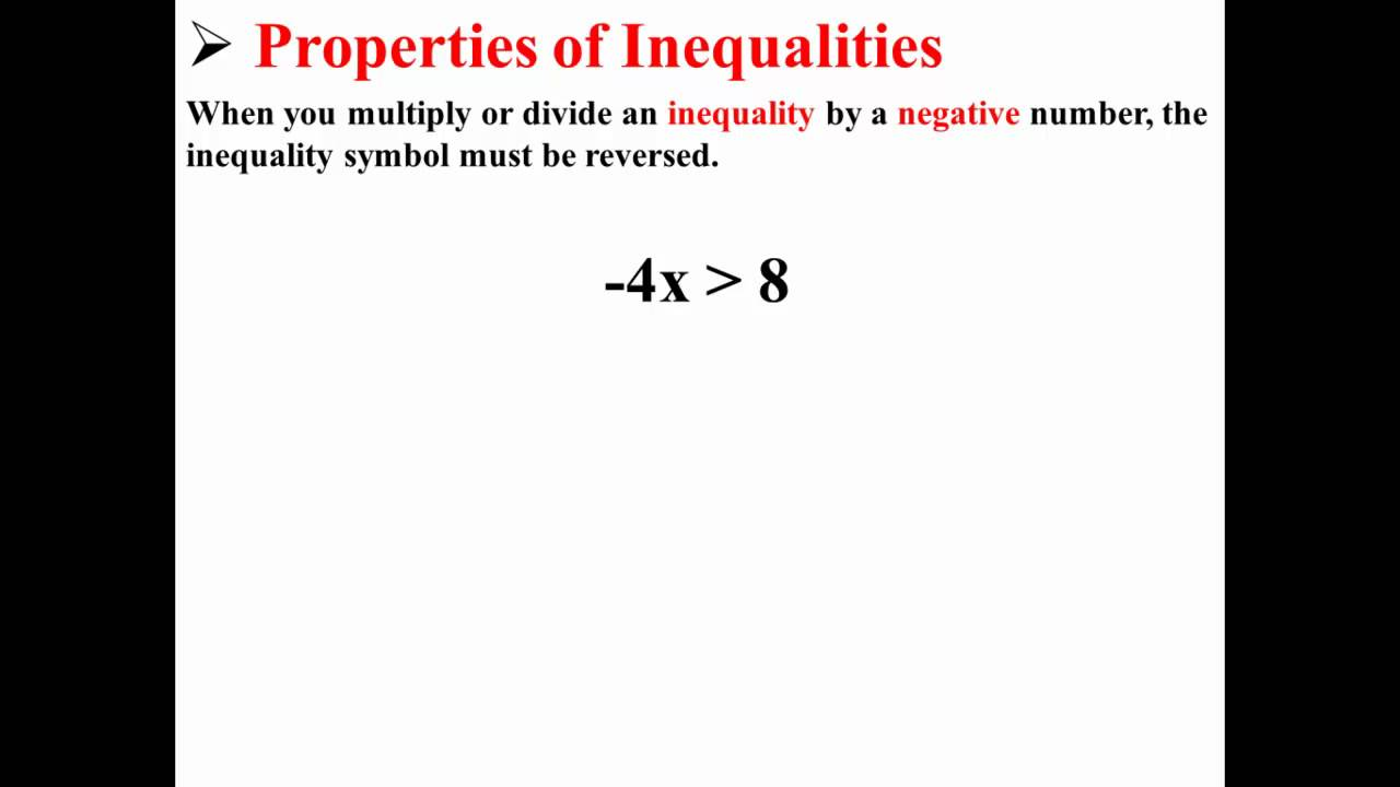 Multiplication and Division Properties of Inequalities ...