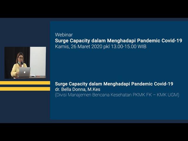 Webinar Materi Surge Capacity dalam Menghadapi Pandemic Covid 19