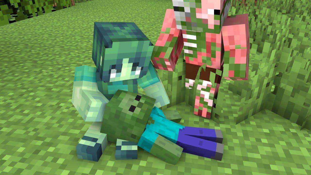 Monster School : Drowned Zombie Apocalypse - Minecraft Animation