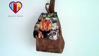 Bolsa mochila em tecidos Janee – Maria Adna Ateliê