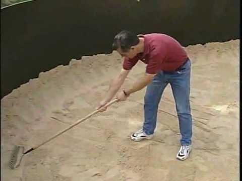 Liner And Ground Preparation For Above Ground Pools Youtube