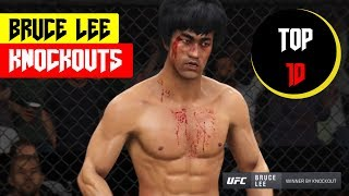 Top 10 Bruce Lee Knockouts (EA Sports UFC 3) 🔥🐉