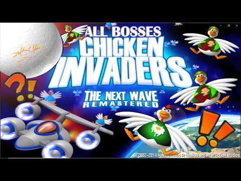 CHICKEN INVADERS 2 The Next Wave - All Bosses (No Damage) |