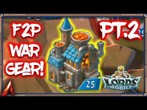 Lords Mobile Best F2P War Gear Part 2! Monster Materials
