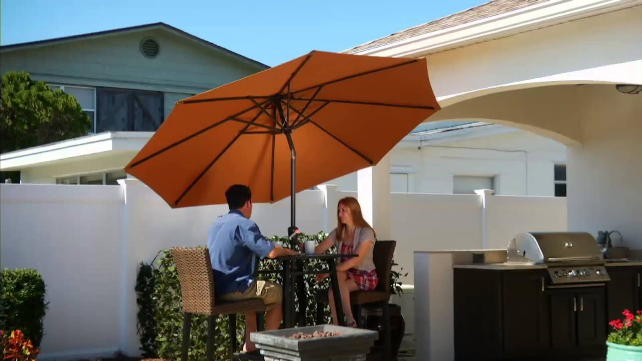 ATLeisure 9 Breeze Through Patio Umbrella with 2 Canopies on QVC