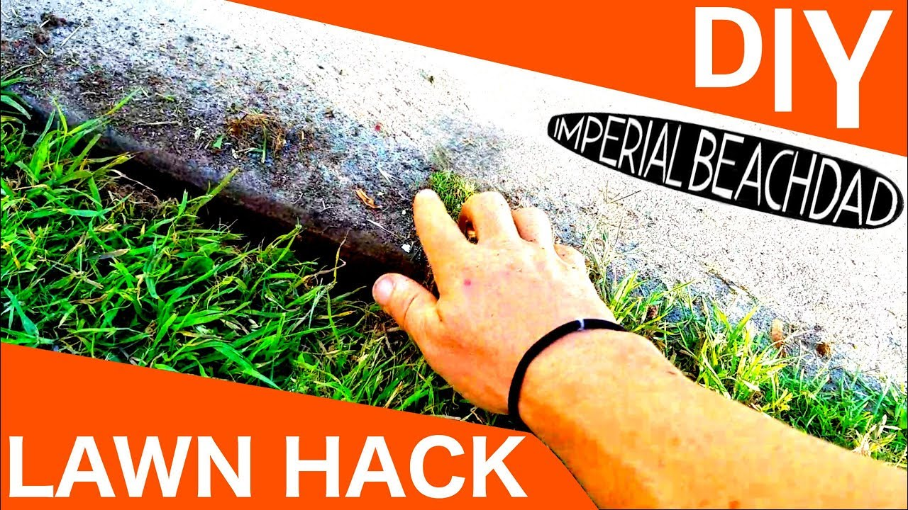 How to Edge a Lawn the CHEAP and EASY Way!!! No Edger or String Trimmer  Needed!
