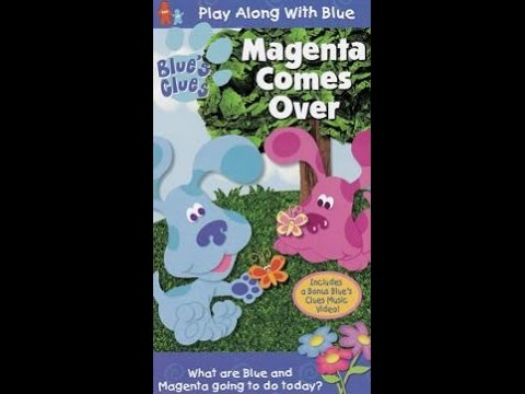 Opening to Blue's Clues Magenta Comes Over 2000 VHS (Most ...