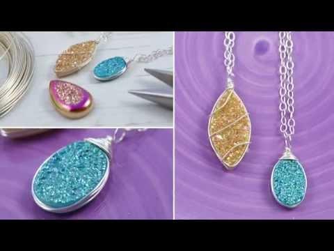 DIY: Wire Wrapped Druzy Necklace - Jewelry Tutorial