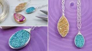 DIY: Wire Wrapped Druzy Necklace - Jewelry Tutorial
