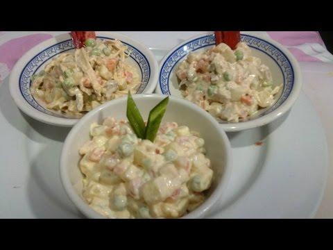 ENSALADA RUSA, Receta # 99, ensaladas de verduras