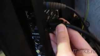 Как подключить компьютер к телевизору через HDMI(, 2013-11-15T18:18:41.000Z)