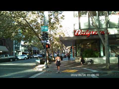 Walking Palo Alto California Caltrain Station to University Avenue downtown