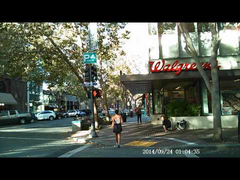 Walking Palo Alto California Caltrain Station to University Avenue downtown