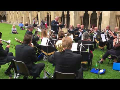 Cawston Brass Band at Norwich Cathedral (Aug.2017)