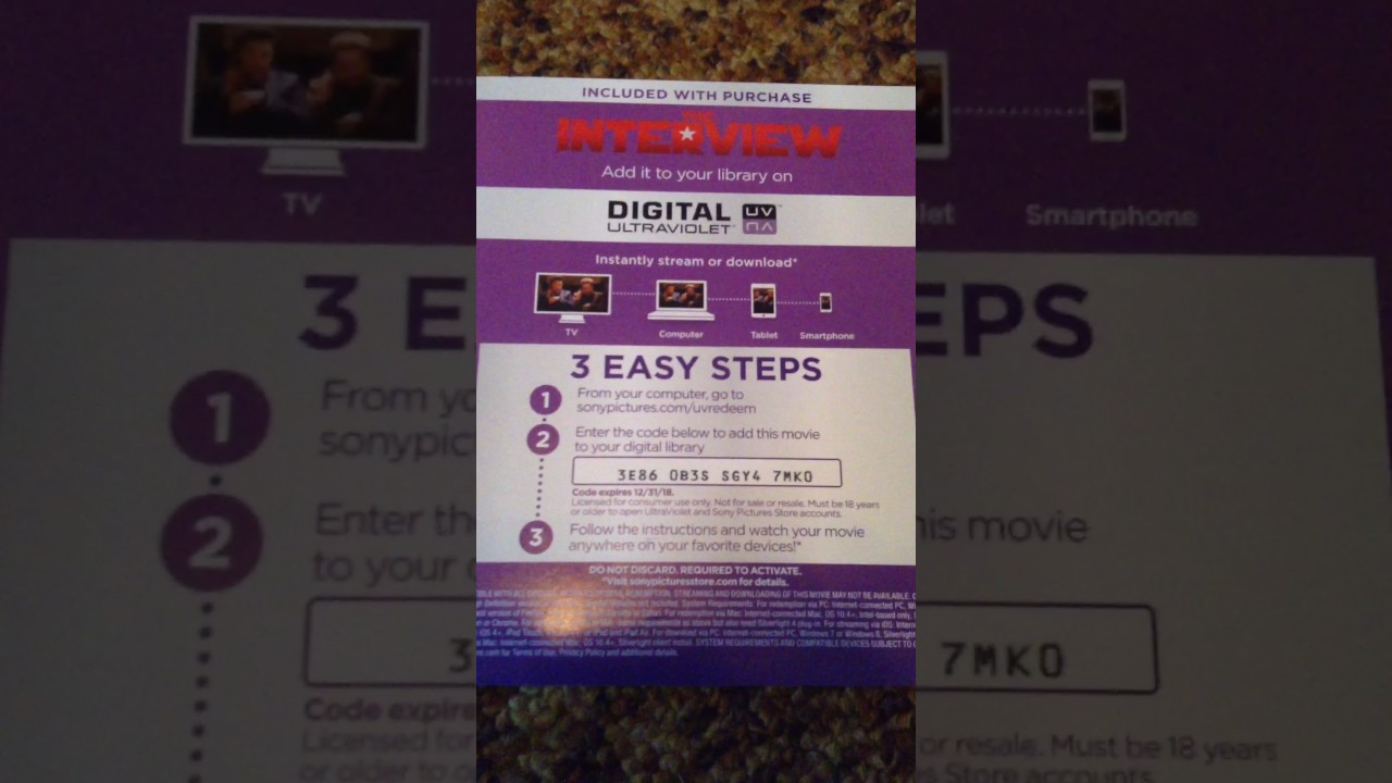 Ultraviolet Digital Code